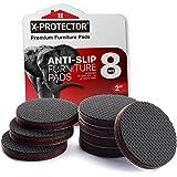 Meubelpads X-PROTECTOR - Non-slip pads - Premium 8 stuks 50mm - Beste Vloerbeschermers - Rubberen voeten voor Meubelvoeten -