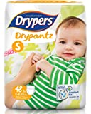 Drypers Drypantz Pant Style Premium Diaper, Small Size, Combo Pack of 2, 48 Counts Each (96 Counts)