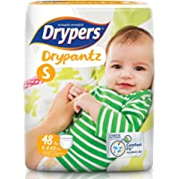 Drypers Drypantz Pant Style Premium Diaper, Small Size, Combo Pack of 4, 48 Counts Each (192 Counts)
