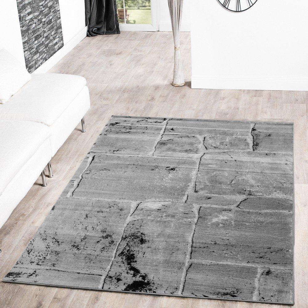Teppich Steinboden Marmor Optik Design Modern Wohnzimmerteppich Grau Top Preis Grsse160x220 Cm Amazonde Kche Haushalt
