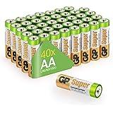 GP Batterier LR06 1,5 V SUPER Alkaliska Multipacks Mignon AA-batteri (paket med 40)