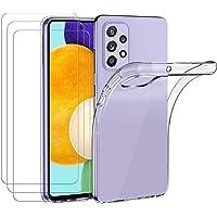 ivoler Hülle für Samsung Galaxy A52 4G / 5G / A52S 5G, mit 3 Stück Panzerglas Schutzfolie, Dünne Weiche TPU Silikon…