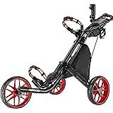 Chariot de golf EZ-Fold de CaddyTek - 3 roues - Gris foncé - Avec sac de rangement