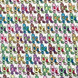 Multi Farbe, französischer Pudel Kinderzimmer-Print 100%