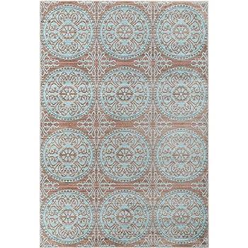 Benuta Teppich Visconti Braun/Türkis 160x230 Cm | Moderner Teppich Für  Wohn  Und Schlafzimmer