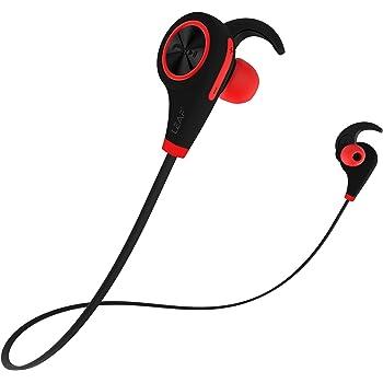 Leaf Ear Wireless Bluetooth Earphones with Mic and Deep Bass (Ferrari Red)