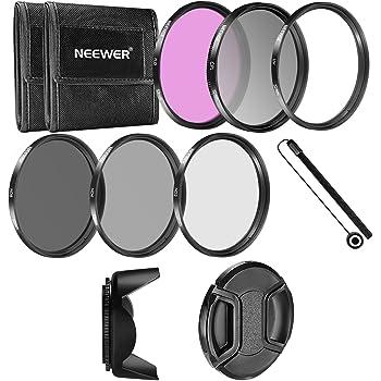 Neewer - 52MM Fotocamera Filtro Accessorio Kit per NIKON D3300 D3200 D3100 D3000 D5300 D5200 D5100 D5000 D7000 D7100 DSLR Fotocamera
