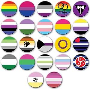 Party People Distintivi di Orgoglio. Ampia Selezione di Badge LGBQT + Disponibili. Taglie Multiple.