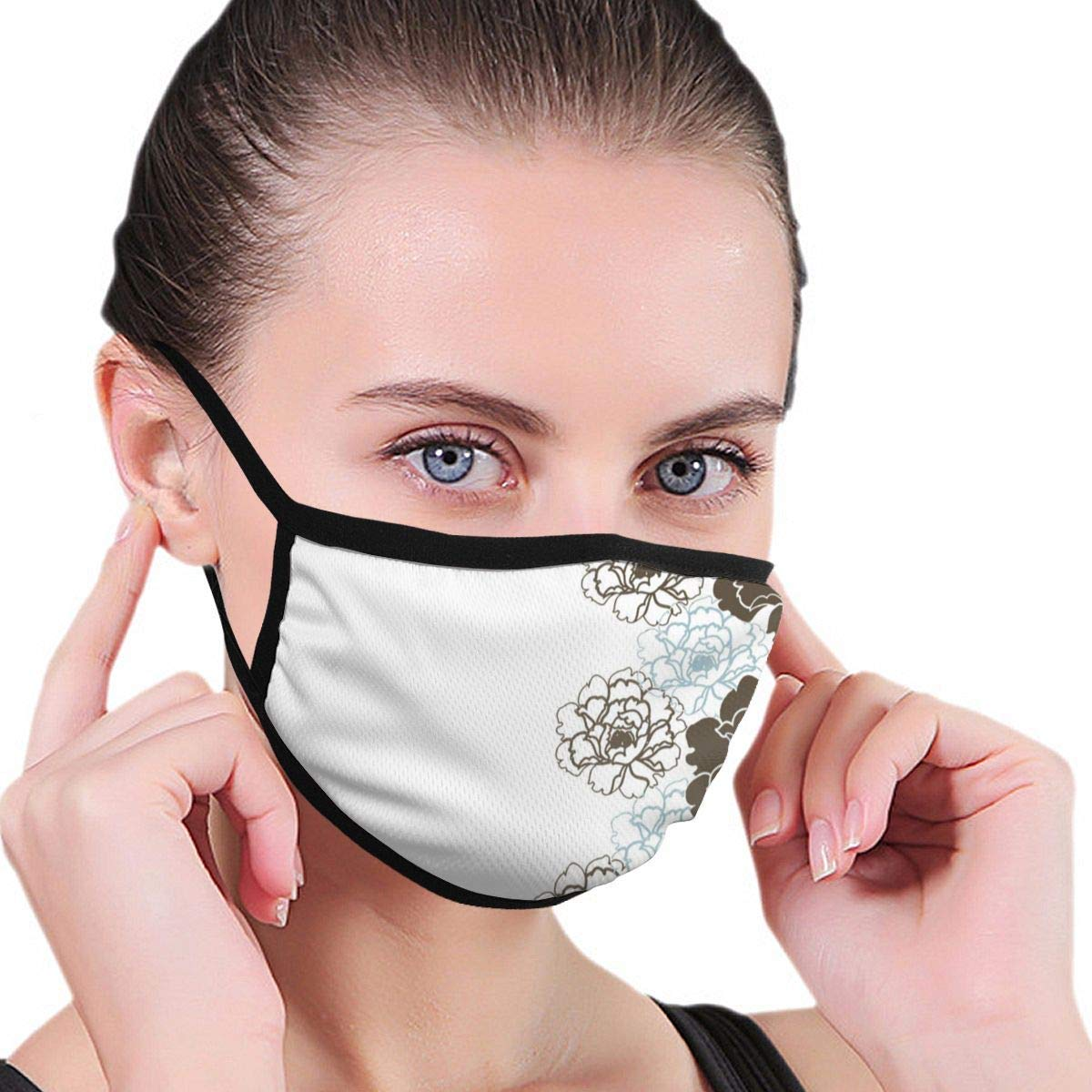 Bdwuhs Mascarillas Bucales Hydrangea Flower Tattoo Anti Pollution Dust Mask Washable and Reusable Polyester Face Mouth Mask Protection from Flu Germ Pollen Allergy Respirator Mask