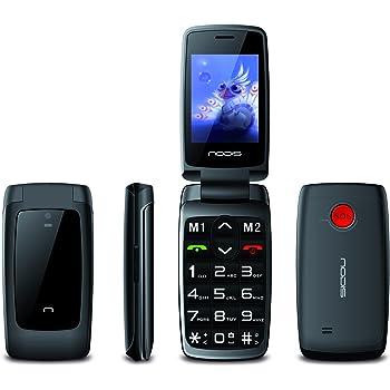 nodis sn15b t l phone portable pour personnes g es double sim noir compatibilit avec. Black Bedroom Furniture Sets. Home Design Ideas