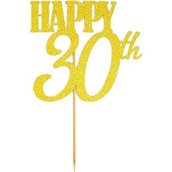 Oblique Unique Torten Kuchen Topper Aufsatz Happy 30th Geburtstag