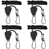 YFOX Crochet pour corde à cliquet 1/8,poulie télescopique,engrenage en métal,mousqueton en métal,corde de 2 mètres,capacité d