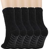 QKURT 5 paia Calze da Pantofole Uomo Antiscivolo Termiche Calzini, Calzini Uomo Divertenti calzini caldi invernali…