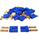 10 Pairs EC5 Bullet Banana Plug Connector Female Male 5mm Bullet Gold Connector for RC ESC LIPO Battery