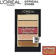 L'Oreal Paris La Petite Eyeshadow Palette, Nudist, 5 g
