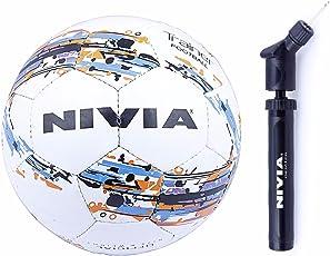 Nivia Trainer Football Combo (Nivia Trainer Football, Size 5 + Nivia Double Action Ball Air Pump)