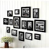 Art street Sumptuous Memories - Set of 15 Individual Black Fiber Wood Photo Frames
