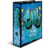 Herma 7149 segregator z motywem DIN A4 Graffiti Cool, 7 cm szerokości ze stabilnego kartonu z modnym nadrukiem wewnętrznym, s