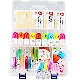 6 stylos surligneurs de seringue, 4 stylos de seringue, 12 stylos à capsule, 3 notes autocollantes pour aide à la bande, 1 bo