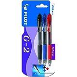 Pilot G2, Set 3 Bolígrafos, Color Negro, Azul y Rojo