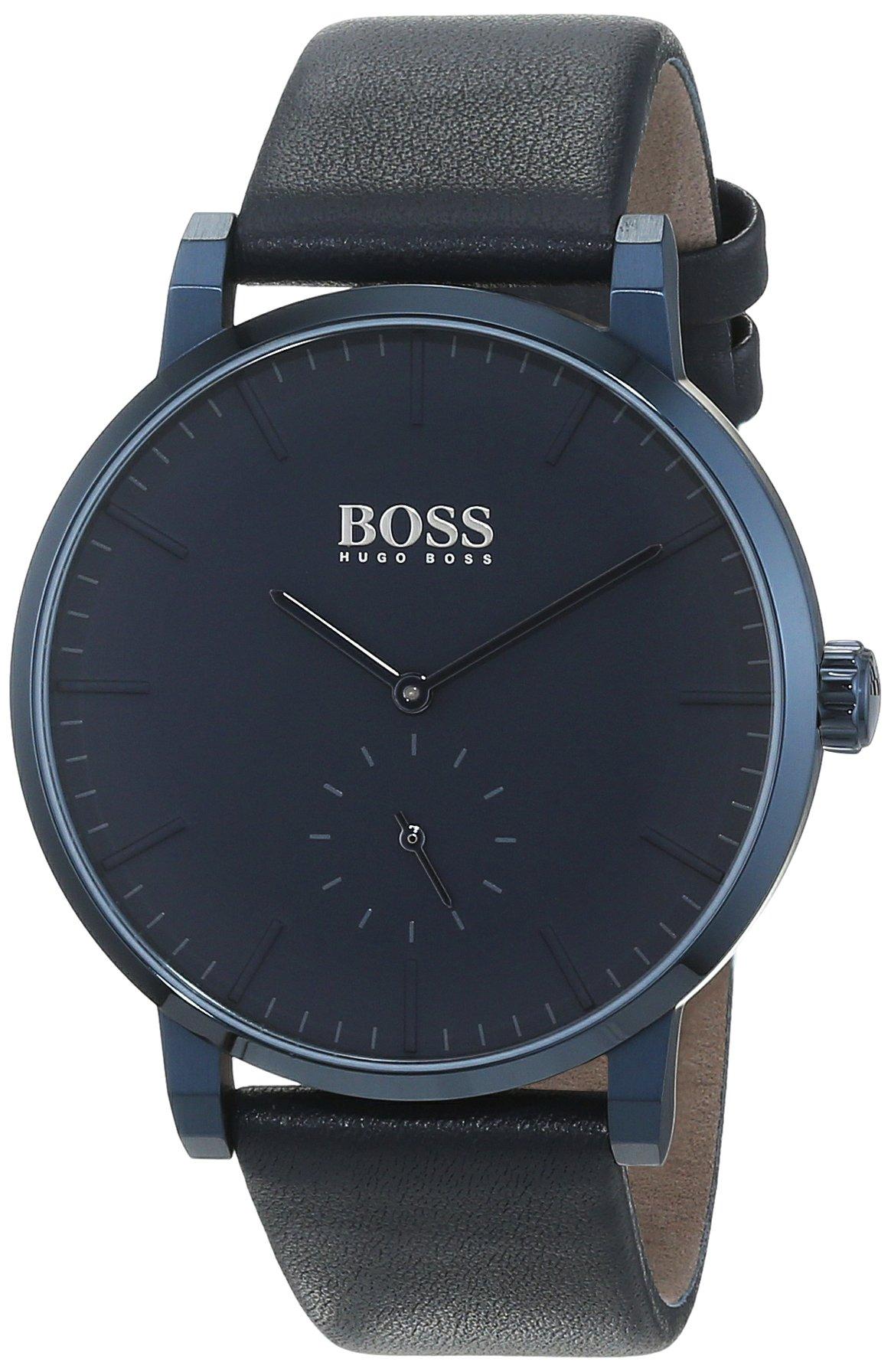 Hugo BOSS Reloj Análogo clásico para Hombre de Cuarzo con Correa en Cuero 1513502