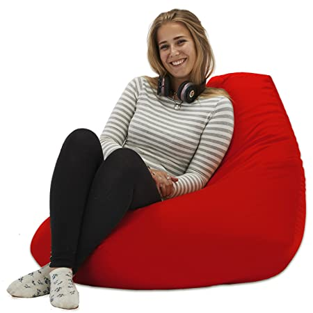XX L Blue Highback Beanbag Chair Water Resistant Bean Bags For Indoor And  Outdoor Use, Great For Gaming Chair And Garden Chair: Amazon.co.uk: Garden  U0026 ...