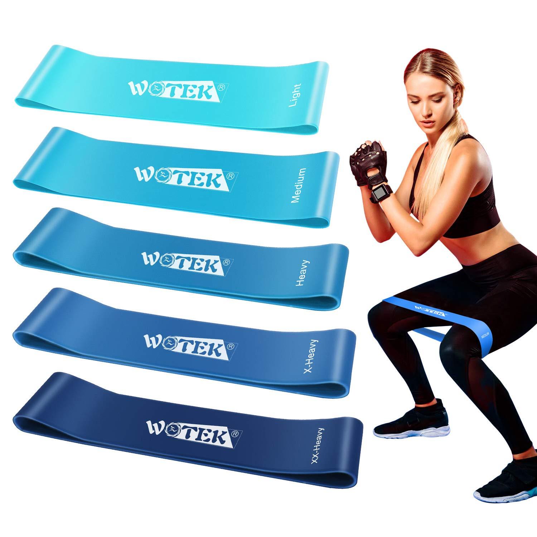 ISUDA Bandas Elasticas Fitness, Cintas Elasticas Musculacion Goma Elastica Fitness Bandas Elasticas Musculacion Bandas De Resistencia para Yoga,Fuerza,Fisioterapia,Crossfit,Pilates,Estiramientos