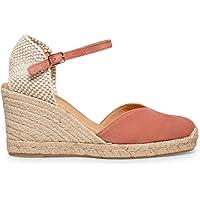 miMaO Chaussures. Espadrilles en Daim Made in Spain. Confort. Espadrilles Femme Compensées. Sandales Confortables avec…