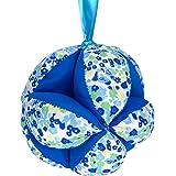 Montessori Kid Pelota para bebé unisex hecha a mano de algodón orgánico, pelota Montessori con sonajero y cuerda, pelota de t