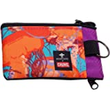 Chums Surfshorts Wallet - Lightweight Zippered Minimalist Wallet with Clear ID Window - Water Resistant with Key Ring