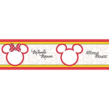 Amazon.de: AG Design - Selbstklebende Bordüre - Disney Mickey Mouse ...