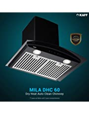 KAFF 60cm 1150 m3/hr Auto Clean Chimney (MILA DHC 60, 2 Baffle Filter, Black)