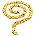 Aabhu Gold Plated 20 Inches 22Ct Pure Gold And Rhodium Coated Chain Necklace For Man And Boys