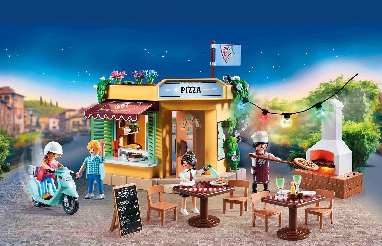 Playmobil City Life 70336 - Pizzeria con Tavoli all'Aperto con Effetti Luminosi, dai 4 anni 2 spesavip