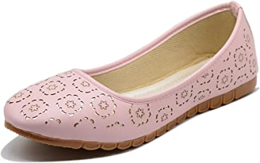 Midsole Women's Baby Pink Party Wear Cutwork Casual Bellies- (FT831C)