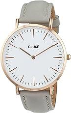 Cluse Damen-Armbanduhr Analog Quarz Leder