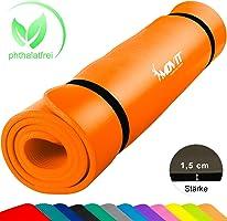 MOVIT XXL Pilates Gymnastikmatte, Yogamatte, phthalatfrei, SGS geprüft, 190 x 100 x 1,5cm oder 190 x 60 x 1,5cm, in 12...