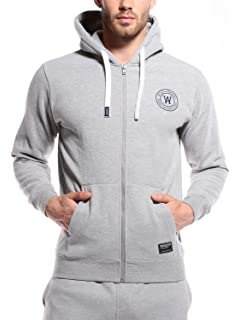 WOLDO Athletic Herren Leichte /Übergangsjacke mit Kapuze Kapuzenjacke Sportjacke Trainingsjacke Jacke Slim Fit