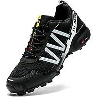 WYUKN Chaussures de Cyclisme VTT, Chaussures de Moto pour Hommes, Tissu Oxford, Chaussures de vélo imperméables, Baskets…