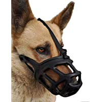 Rvpaws Adjustable Dog Muzzle Cum Mouth Cover- Dogs for Great Dane/St Bernard/Rottweiler (X-Small, Color May Vary)
