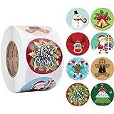 Gertichnova 500 pezzi/rotolo adesivi natalizi confezione regalo etichette adesive sigillanti per forniture per feste natalizi