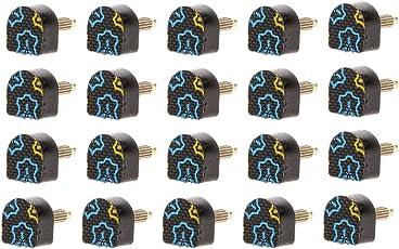 Generic 20pcs Black High Heel Shoes Tips Replacements Repair Stilettos 604