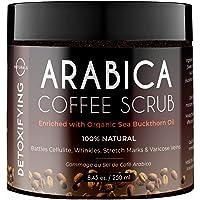 Gommage Exfoliant Natural Anti-Cellulite au Café Arabica et Sel Mer Morte Pour Corps Visage et Pieds Combat les…