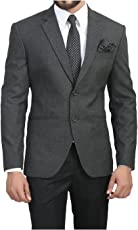 Alvi Qmar Mens Blazer/Coat Perfect Slim Fit for Causual/Party/Formal Wear (Multicolor)