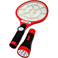 HomeKrafts Fly Mosquito ABS Swatter with Built-In Removable Bright LED Torch Insect Racket Bat Bug Catcher