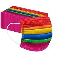Marmiho 50/100 Pièces Costumes_𝗠asqu𝐄_Enfants, Déguisements pour l'extérieur, le sport, l'école 3_Layers, Respirant