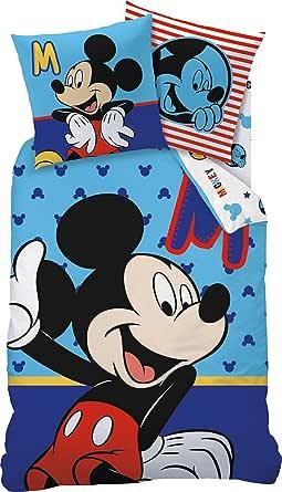 """Linon Kinder Bettwäsche Mickey Mouse """" Motiv Sitting """" 135"""