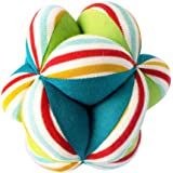 Shumee Colorful Plush Fabric Clutching Ball for Babies (Age 0+) - Textured Developmental Ball with Rattle Inside for…