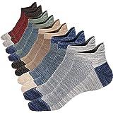 OFFTESTY Mens Ankle Socks Low Cut Non-slid Socks Cotton Mesh Top Fresh Ventilation Trainer Socks