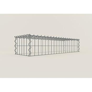 Gabionen ANBAU-GABIONE Typ2 Steinkorb 100 x 100 x 30 cm Maschenweite 5 x 10 cm